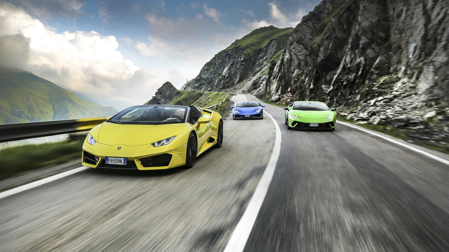 Watch Six Lambos Frolicking On The Gorgeous Transfagarasan Passes