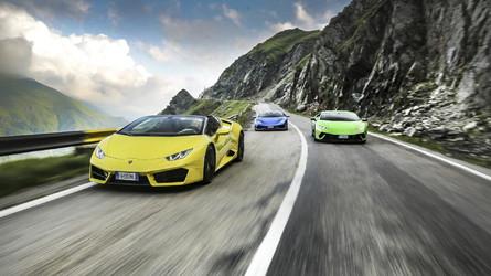 Vídeo - Lamborghinis passeiam na estrada mais bonita do mundo