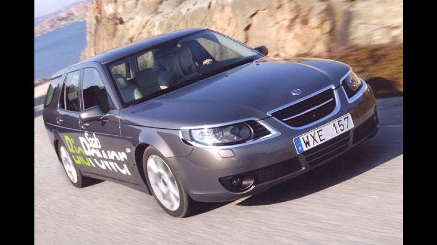Saab bringt den BioPower: Auto fahren mit Promille
