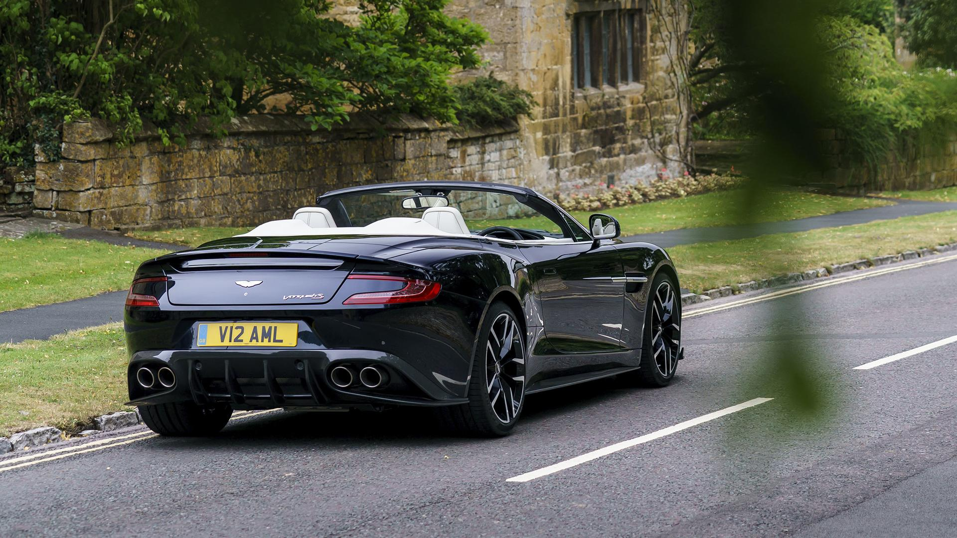 Aston Martin Vanquish S Volante First Drive The Final Encore - Black aston martin vanquish