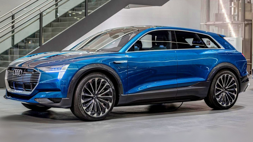 High-quality imagery with Audi e-tron quattro concept shows the Q6's electric future