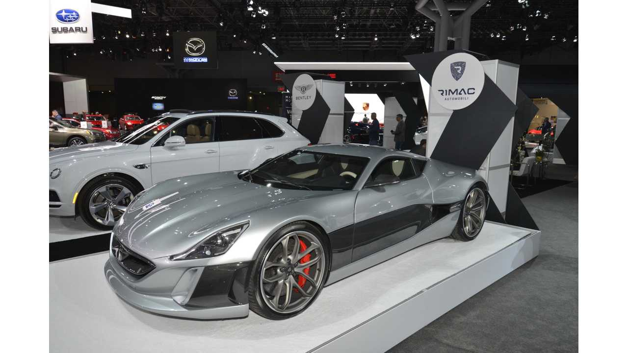 Rimac Concept_One at the 2017 New York Auto Show
