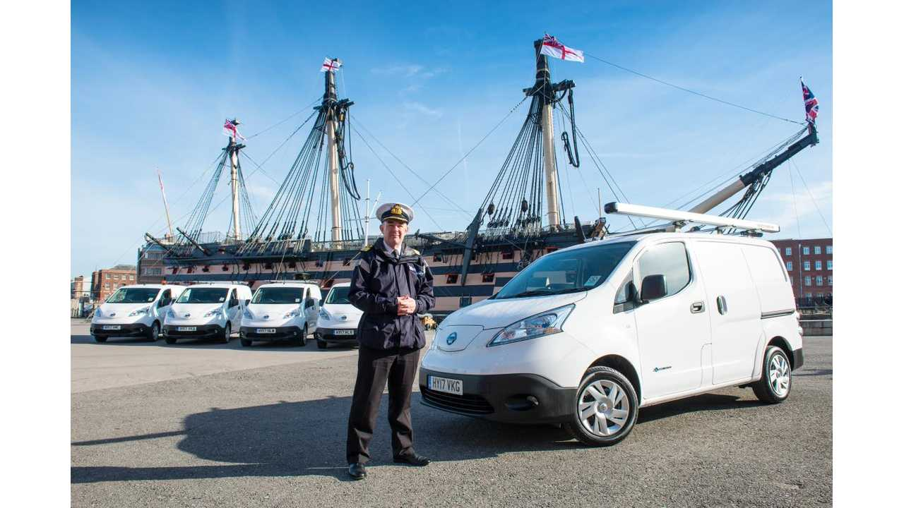 Portsmouth Naval Base Received 48 Nissan e-NV200 Combis