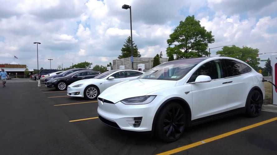 About 100 Tesla Owners Convened To Test Cars At Michigan Speedway