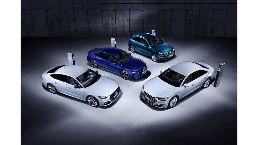Audi Announces 4 New Plug-In Hybrids: Q5, A6, A7 & A8