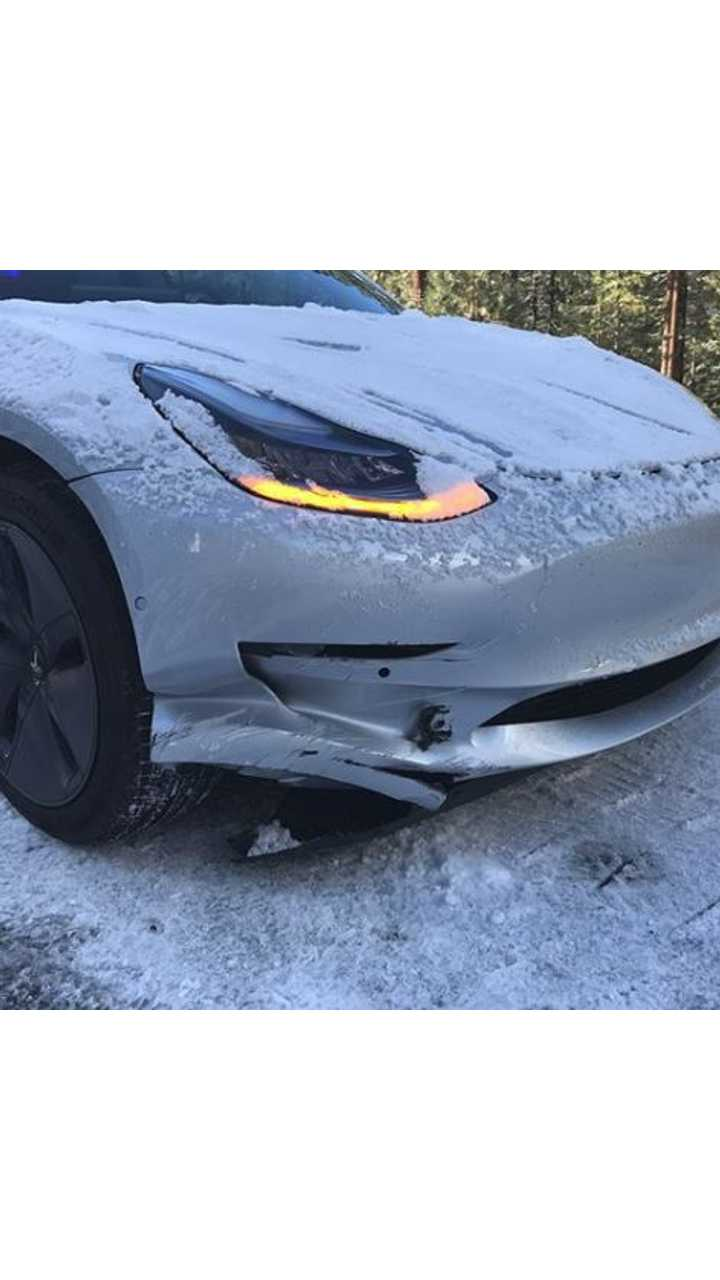 Images of Wrecked Tesla Model 3