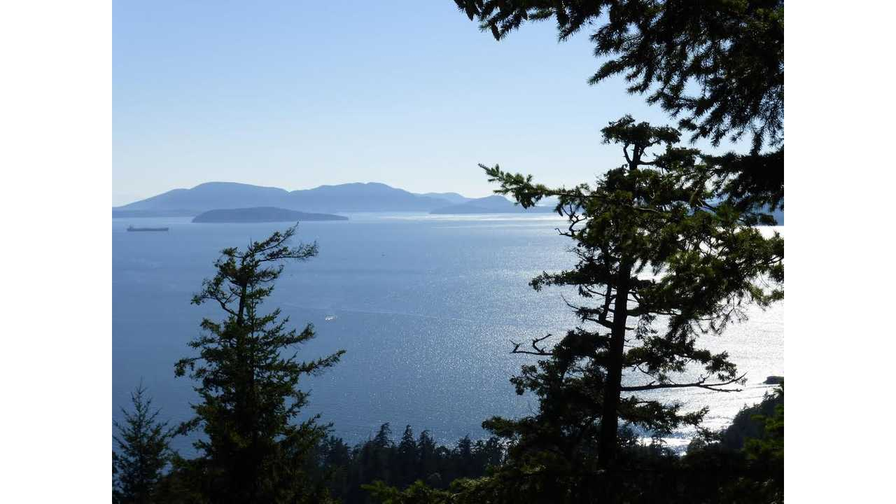 The view from our hike above Chuckanut Drive