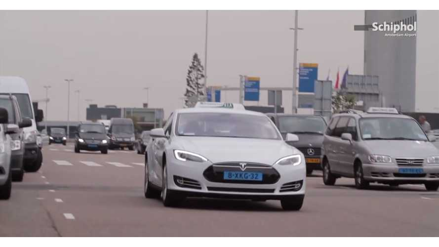 Coming Soon - Tesla Model S Taxis At Amsterdam Airports - Video