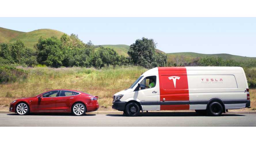 Tesla's New Mobile Service Vehicles Will Be Electric...'Bout Time