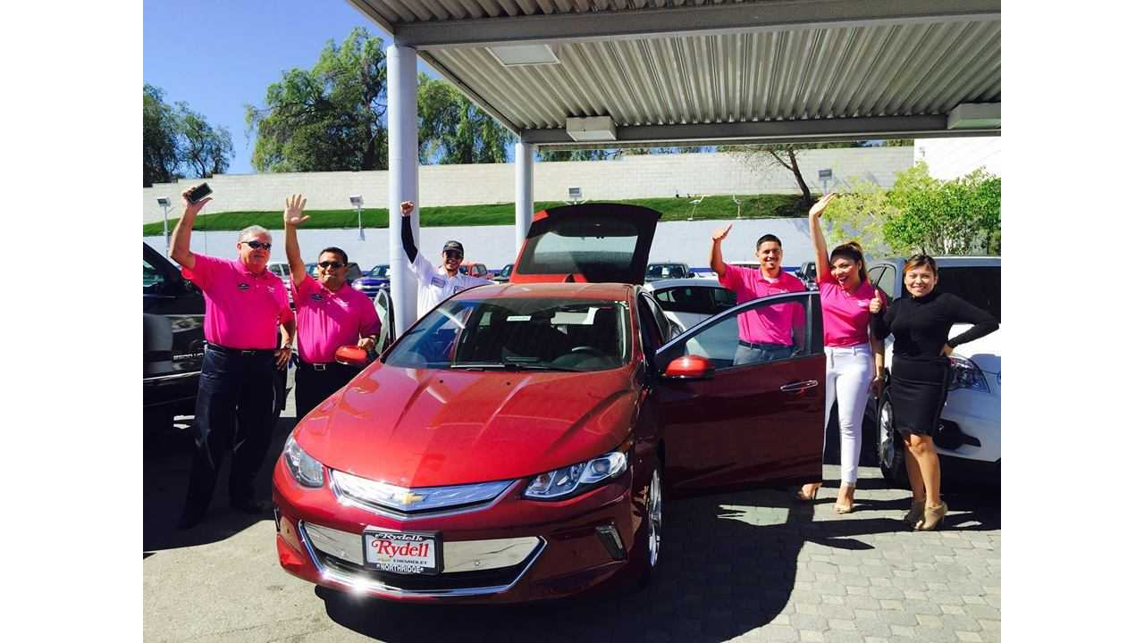The First Of The New 2016 Chevy Volts At Rydell Chevrolet In California This Week
