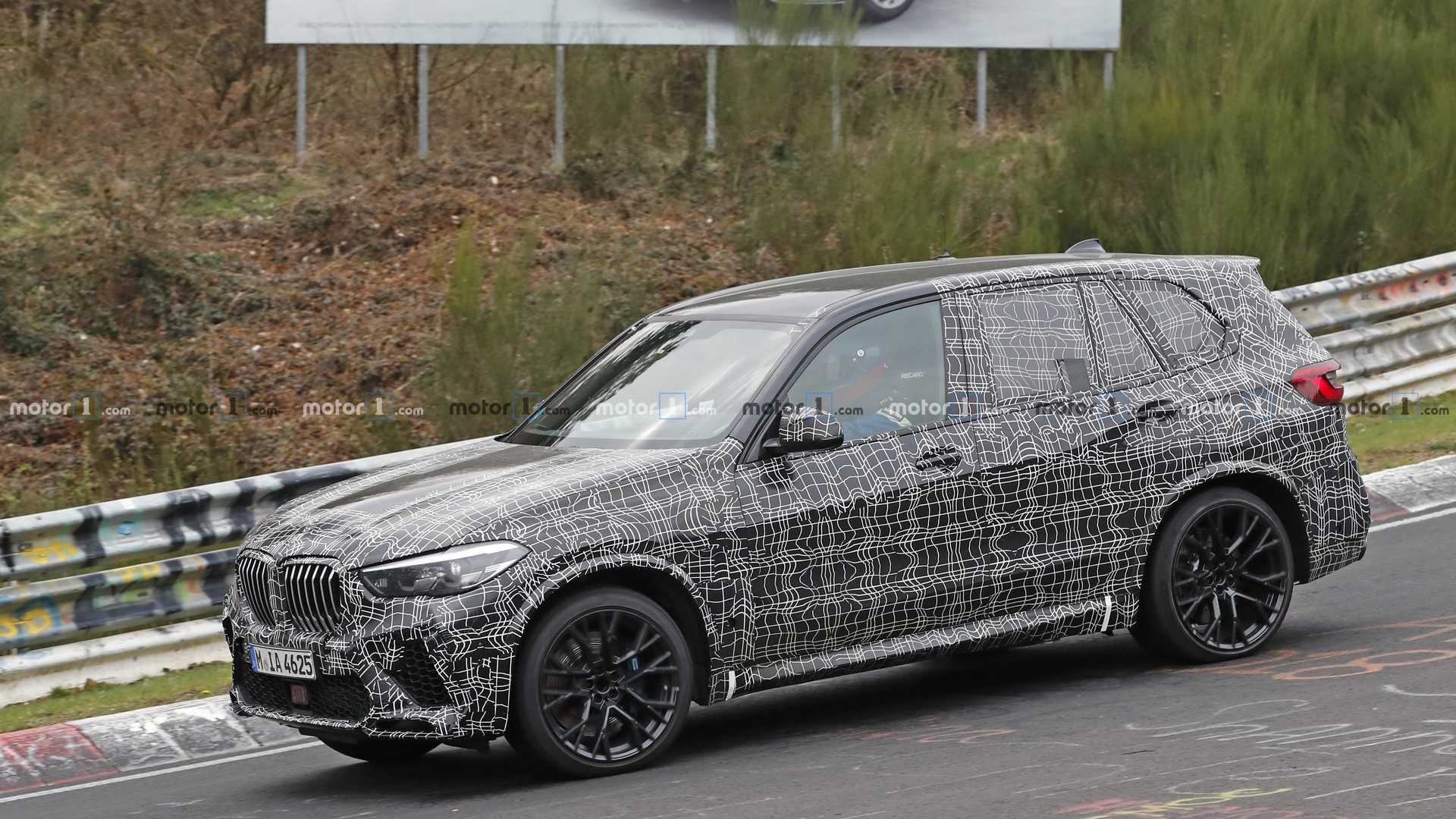 2020 Bmw X5 M Spied Inside And Out While Refueling