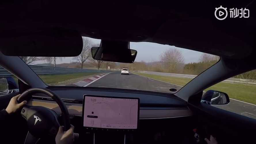 Watch Tesla Model 3 Performance Lap The Nurburgring