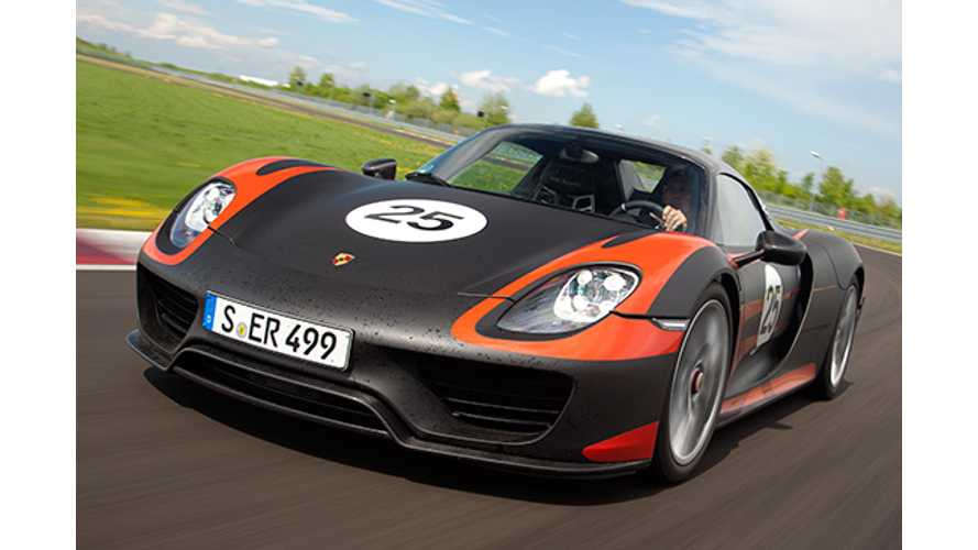 Porsche 918 Spyder Recalled