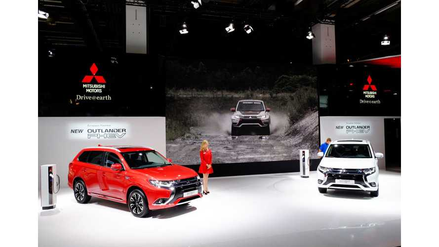 2016 Mitsubishi Outlander PHEV At The Frankfurt Motor Show