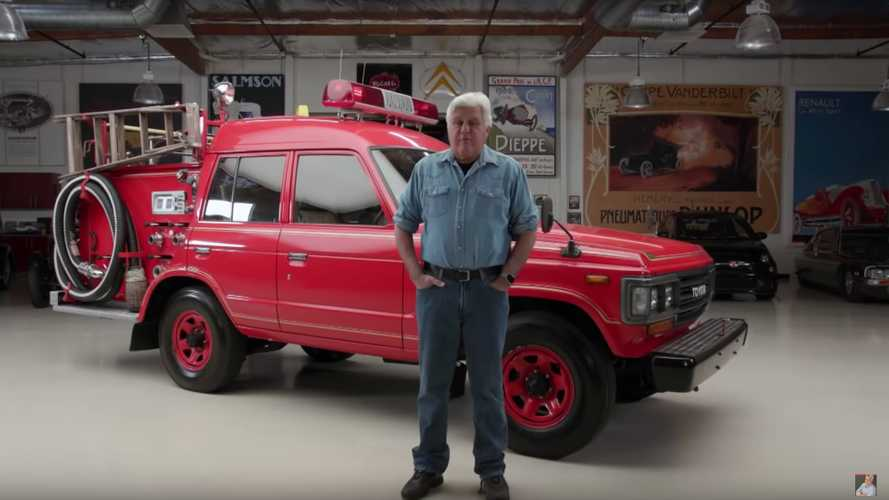 Jay Leno Drives A Japanese Toyota Land Cruiser Fire Truck