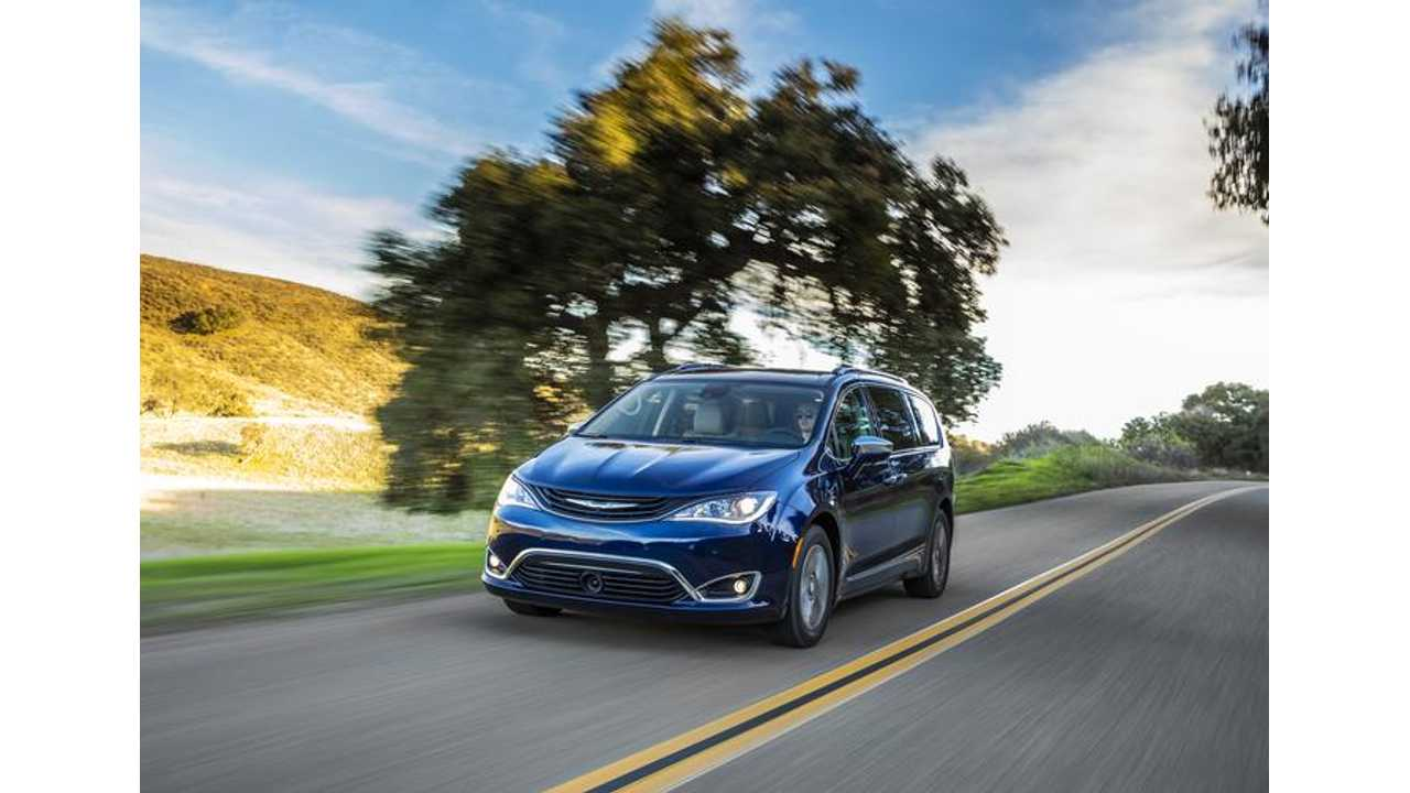 The Chrysler Pacifica Hybrid is chock full of tech.