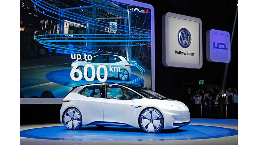 Volkswagen To Debut 4th Electric I.D. Model: A Sedan In Frankfurt For September