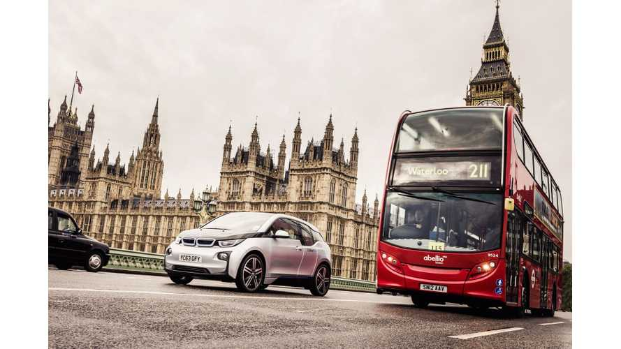 DriveNow Expands London Fleet With Addition Of BMW i3s