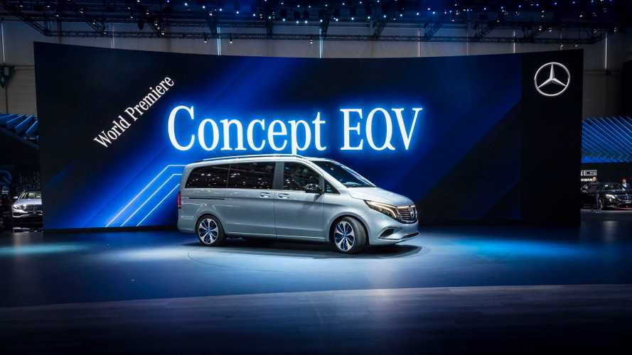 Mercedes-Benz Concept EQV Electric Van Seats Up To 8: Photos/Videos