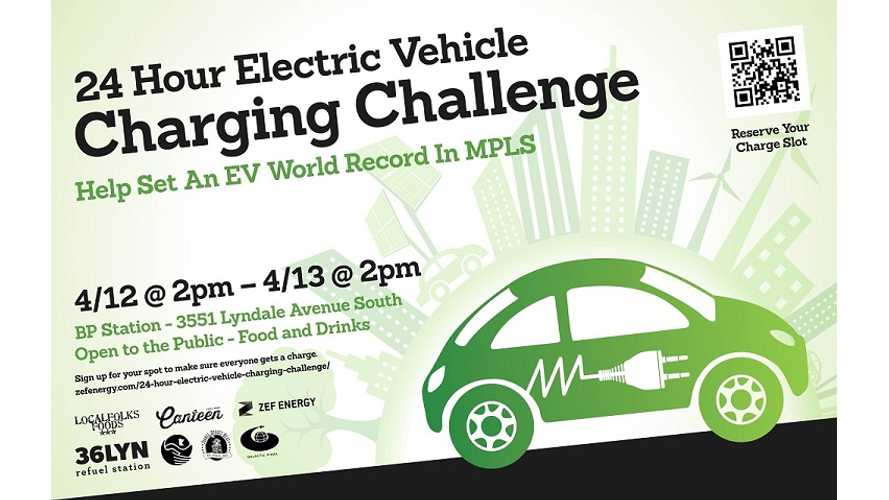 24 Hour Electric Car Fast Charging Challenge