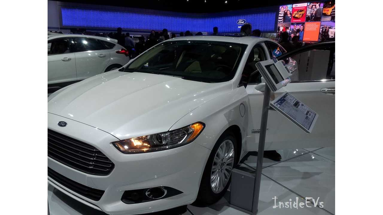 The Ford Fusion Energi Was The Stand-Out Player For Febrary (shown here in Toronto for CIAS 2016)