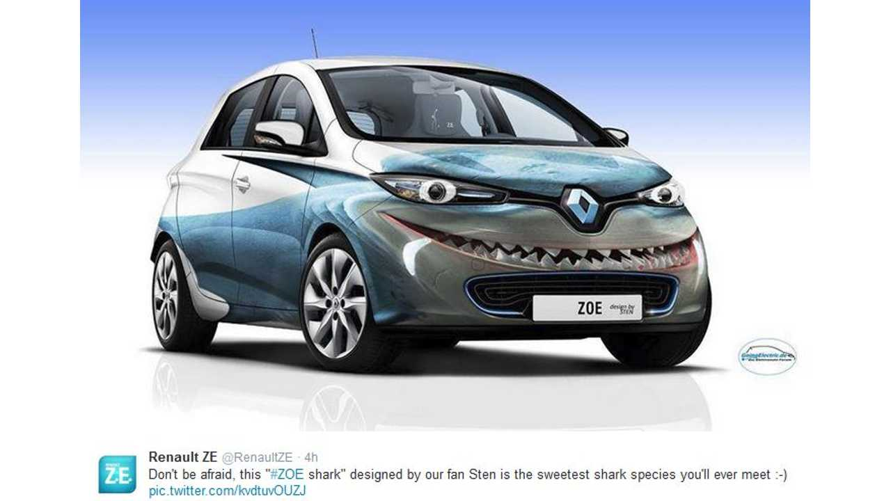 Meet The Renault Zoe Shark Edition