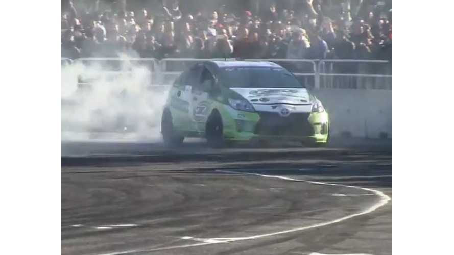 Rear Wheel Drive Pure Electric Toyota Prius Drifts...Yes, A Prius Drifts - Video
