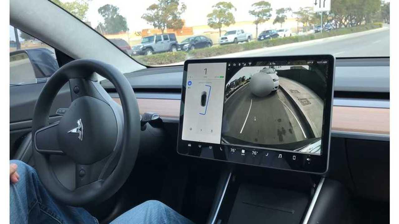 Tesla Model 3 Parallel Parks Itself - Video