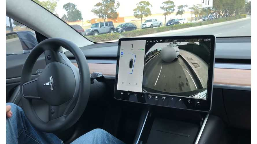 Tesla Model 3 Parallel Parks Itself - Video