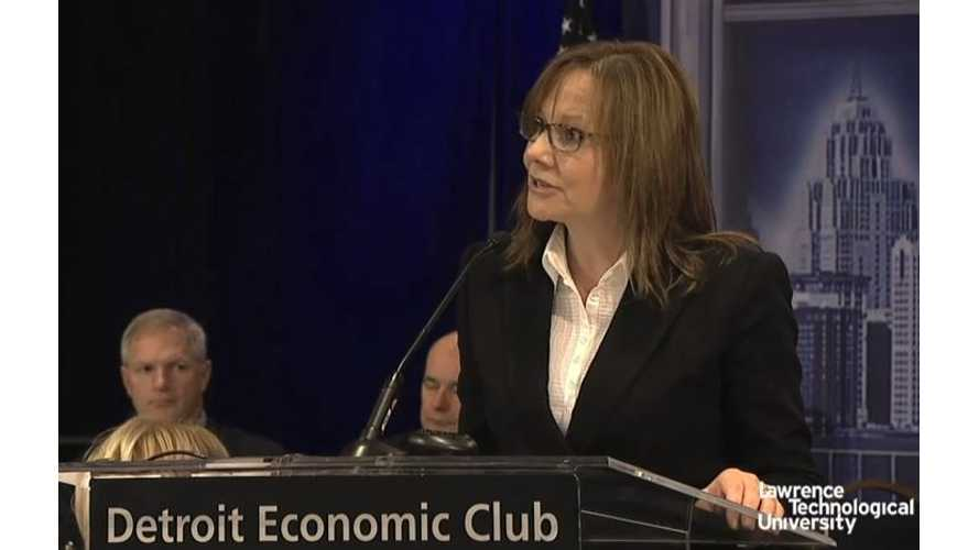 General Motors CEO Mary Barra On 2016 Chevrolet Volt - Video
