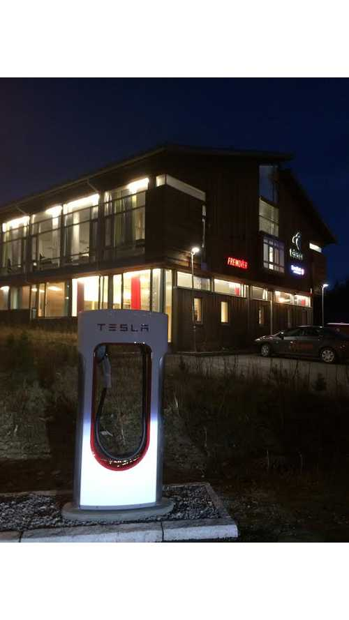Northernmost Tesla Supercharger Now Open - Update: Now With Pics!