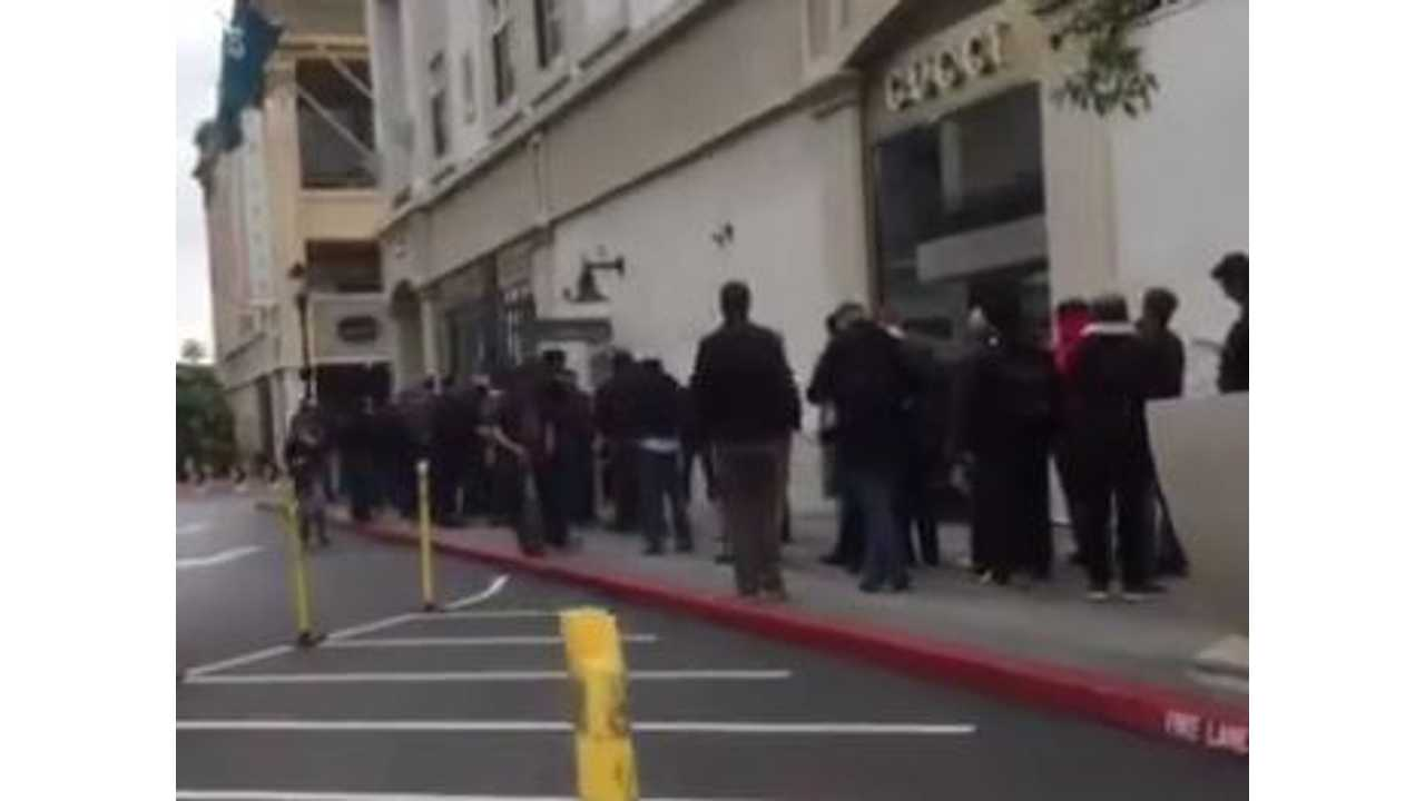 With A Tweet, Tesla Confirms This Line To Be The Longest For The Model 3