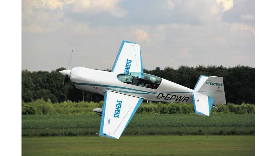 Siemens Demonstrates Electric Motor For Aircrafts - 260 kW, Weighing 50 kg