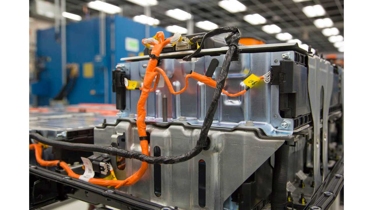 A Chevrolet Bolt EV battery pack in General Motors Global Battery Systems Laboratory at the GM Technical Center in Warren, Michigan, Tuesday, April 5, 2016. (Photo by Jeffrey Sauger for General Motors)
