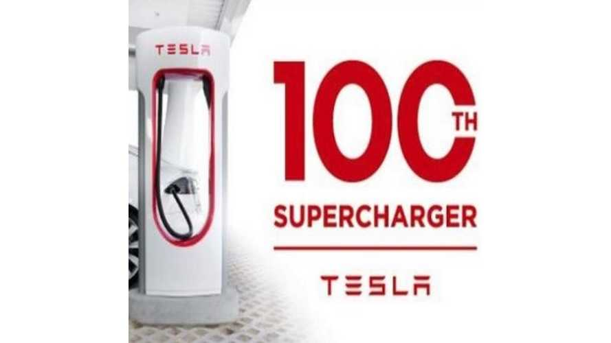Tesla Opens 100th U.S. Supercharger