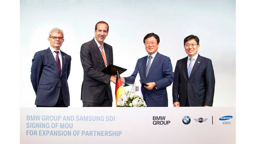 BMW Signs Deal With Samsung SDI To Expand Battery Cell Supply