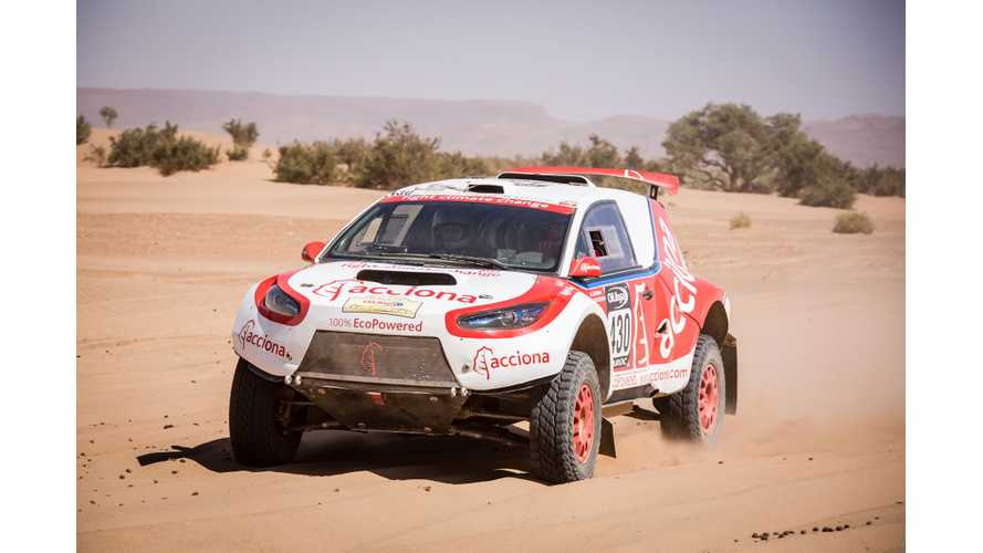 ACCIONA 100% EcoPowered Becomes First EV To Finish Dakar Rally! - videos