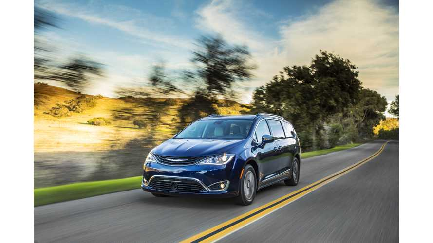 General Chrysler Pacifica Hybrid Named Northwest Green Vehicle Of The Year
