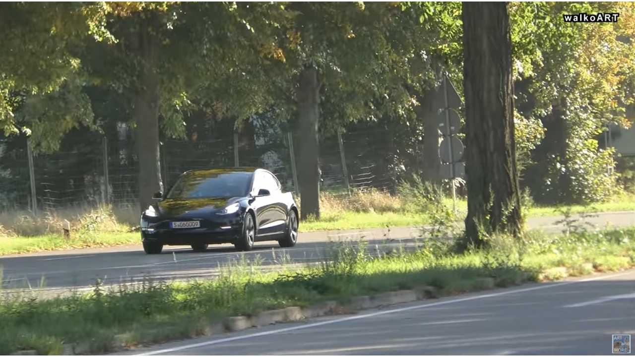 Tesla Model 3 Spotted In Germany Again: Video