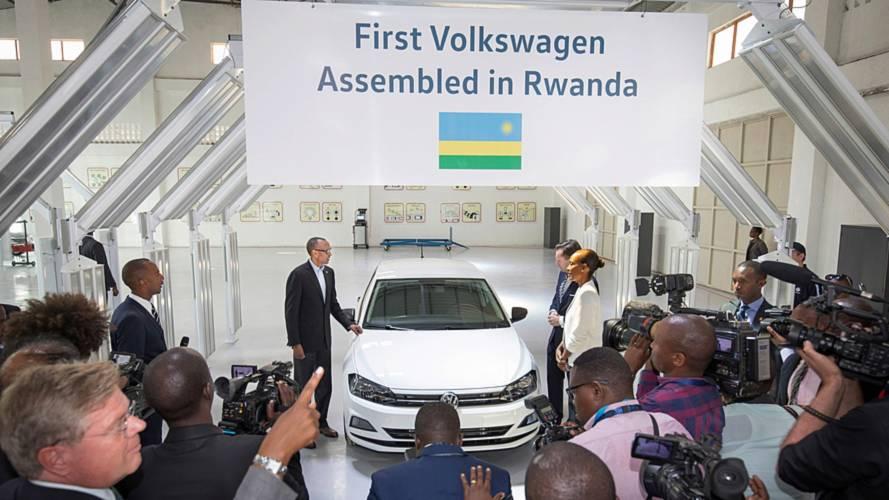 "Volkswagen fête l'arrivée de sa première voiture ""made in Rwanda"""
