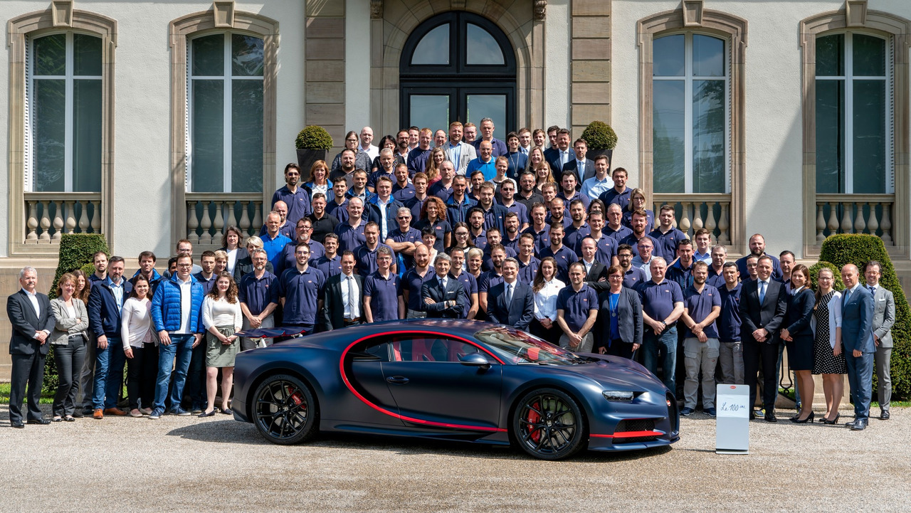 Bugatti Chiron, Centième exemplaire