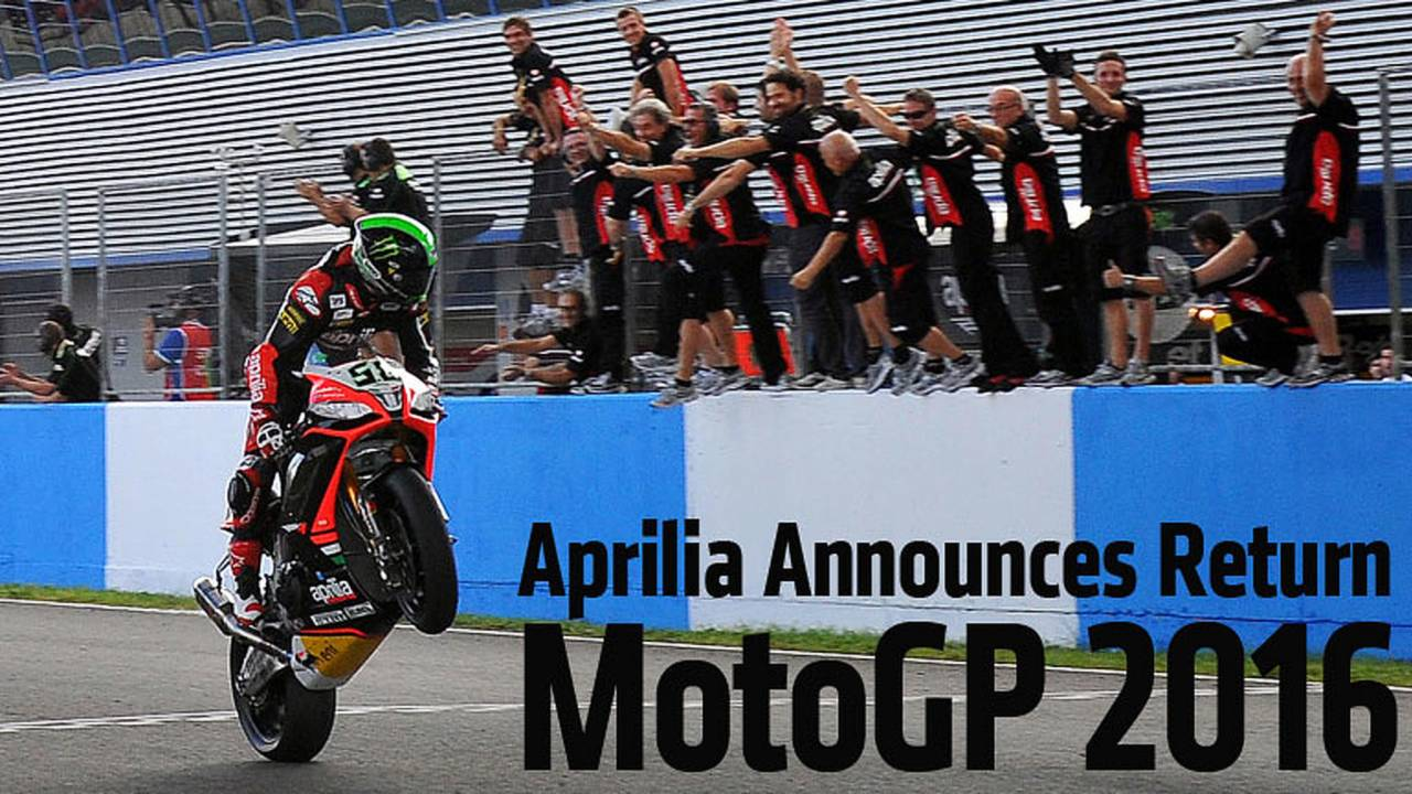 Racing: Aprilia Returning To MotoGP In 2016