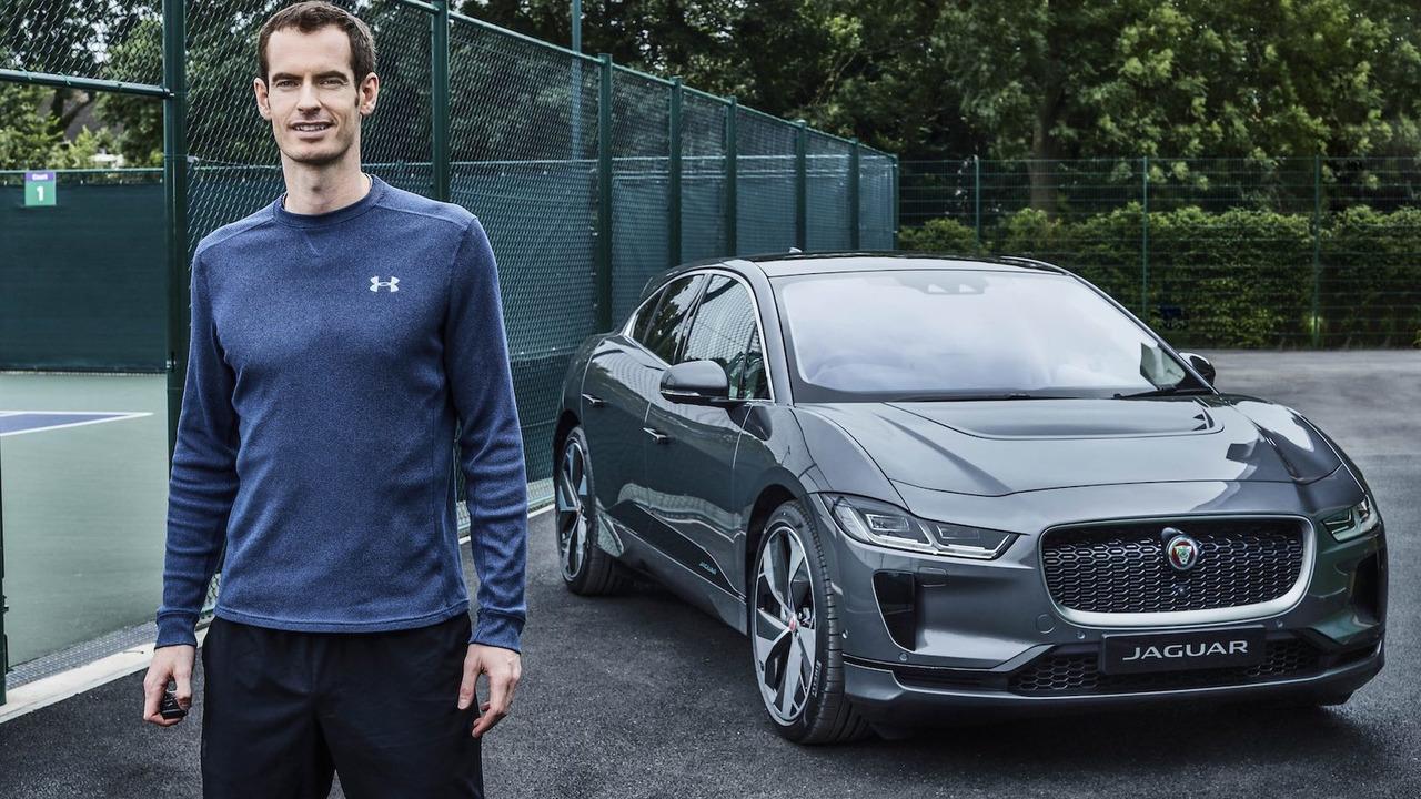 Andy Murray y su Jaguar I-PACE