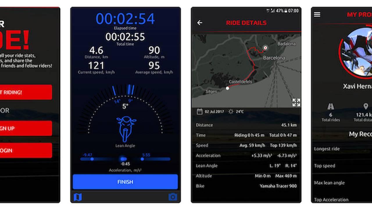 A couple screen shots from Yamaha's MyRide App