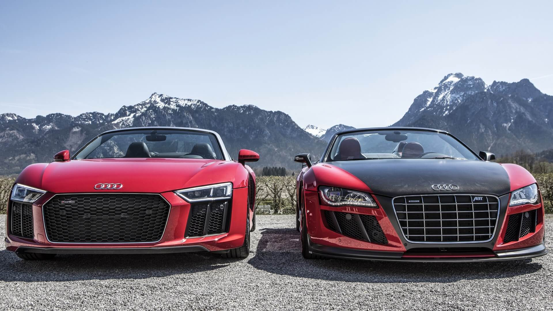 Spyder Invasion In The Alps Audi R RWS Meets The R GT S By ABT - 2018 audi r8 gt