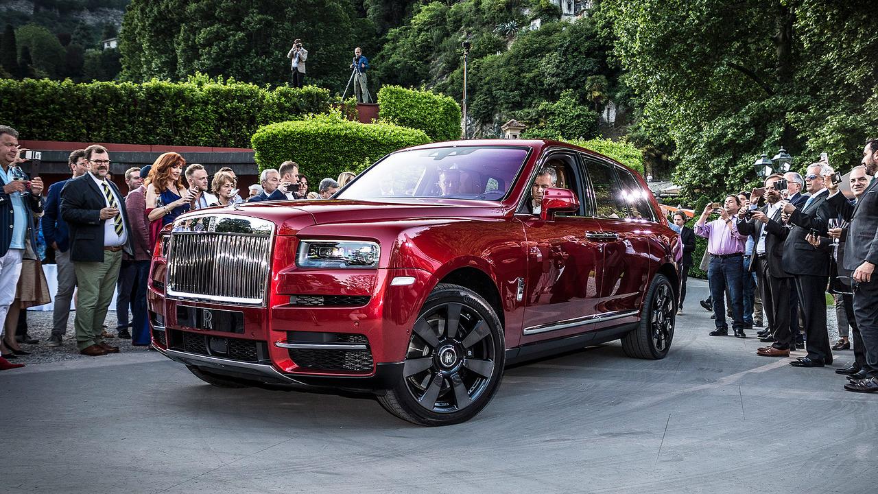 Rolls-Royce Cullinan a Villa d'Este-nél