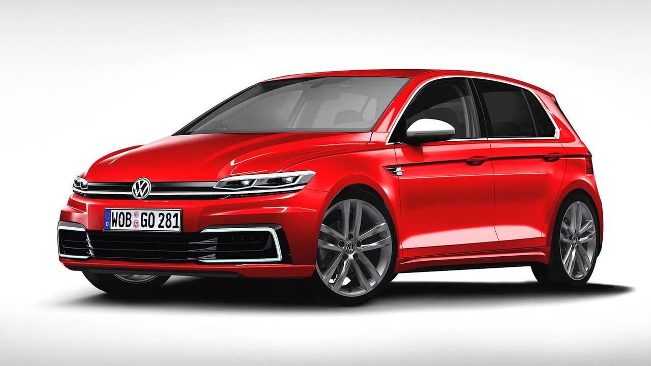 Volkswagen Golf 2019, il rendering