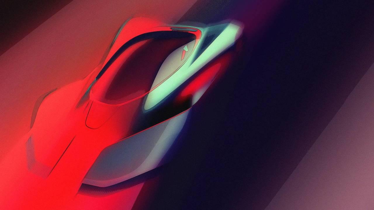 2020 Pininfarina hypercar électrique teaser