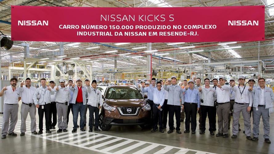 Nissan atinge marca de 150 mil carros produzidos em Resende (RJ)