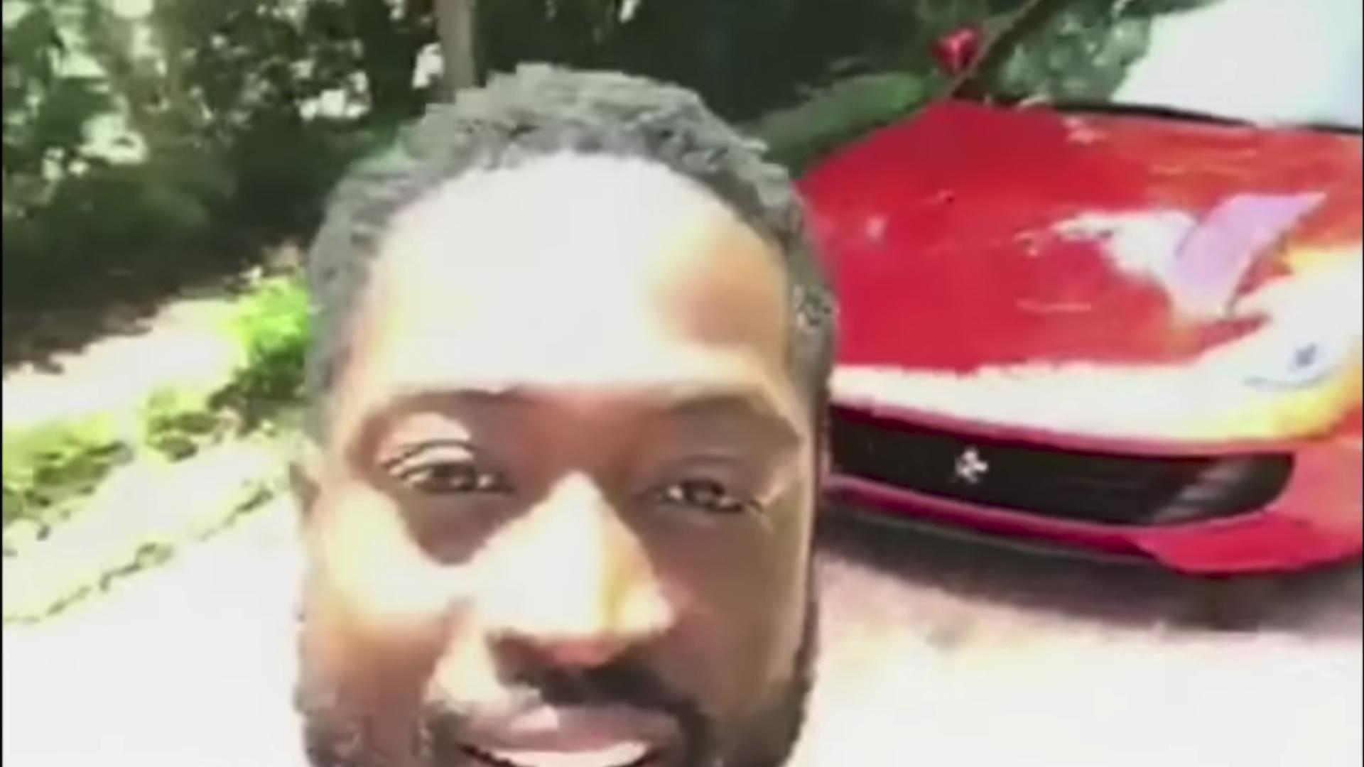 Watch Dwyane Wade Teach His Son To Drive A Ferrari
